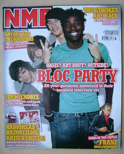<!--2005-09-17-->NME magazine - Bloc Party cover (17 September 2005)