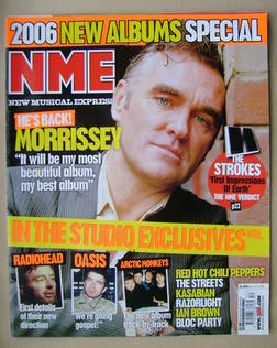 <!--2005-12-31-->NME magazine - Morrissey cover (31 December 2005)