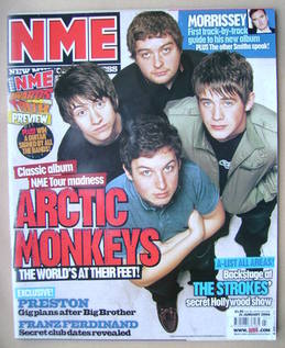 <!--2006-01-21-->NME magazine - Arctic Monkeys cover (21 January 2006)