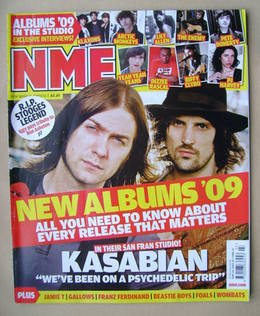 <!--2009-01-17-->NME magazine - Kasabian cover (17 January 2009)
