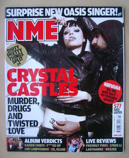 <!--2008-10-11-->NME magazine - Crystal Castles cover (11 October 2008)