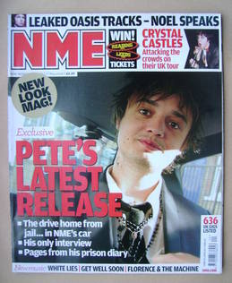 <!--2008-05-17-->NME magazine - Pete Doherty cover (17 May 2008)