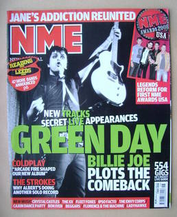 <!--2008-05-03-->NME magazine - Billie Joe Armstrong cover (3 May 2008)