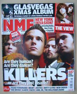<!--2008-11-29-->NME magazine - The Killers cover (29 November 2008)
