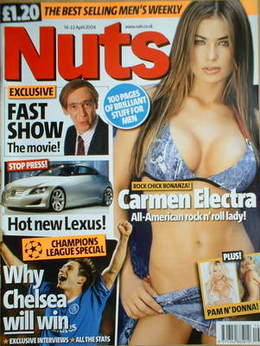 <!--2004-04-16-->Nuts magazine - Carmen Electra cover (16-22 April 2004)