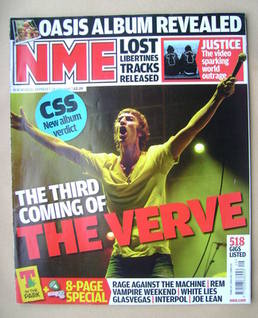 <!--2008-07-19-->NME magazine - Richard Ashcroft cover (19 July 2008)