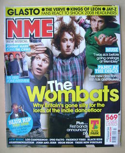 <!--2008-02-16-->NME magazine - The Wombats cover (16 February 2008)