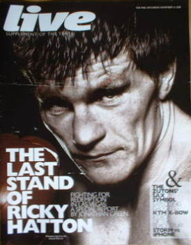 Live magazine - Ricky Hatton cover (16 November 2008)