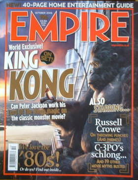 <!--2005-10-->Empire magazine - King Kong cover (October 2005 - Issue 196)
