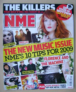 <!--2009-01-10-->NME magazine - Florence Welch cover (10 January 2009)