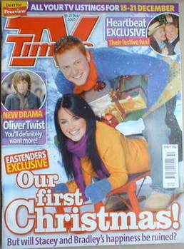 <!--2007-12-15-->TV Times magazine - Lacey Turner and Charlie Clements cove