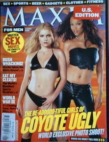 MAXIM magazine - Tyra Banks and Izabella Miko cover (August 2000 - US Edition)