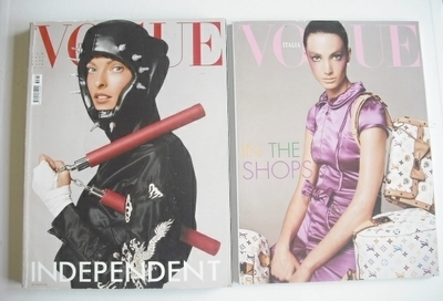 <!--2003-02-->Vogue Italia magazine - February 2003 - Linda Evangelista cov