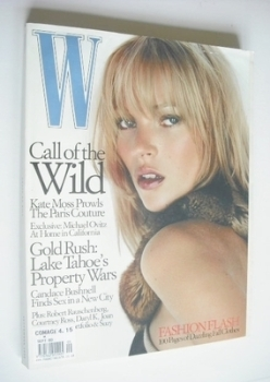 W magazine - September 2000 - Kate Moss cover