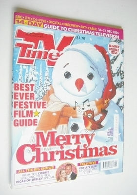 <!--2004-12-18-->TV Times magazine - Merry Christmas cover (18-31 December