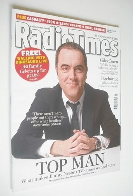 <!--2009-06-13-->Radio Times magazine - James Nesbitt cover (13-19 June 200
