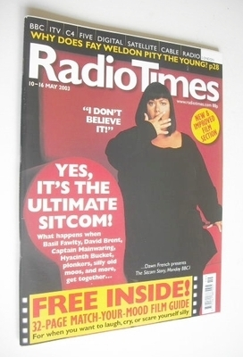 <!--2003-05-10-->Radio Times magazine - Dawn French cover (10-16 May 2003)