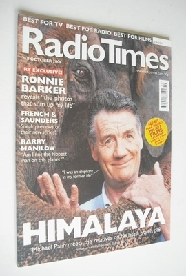 <!--2004-10-02-->Radio Times magazine - Michael Palin cover (2-8 October 20