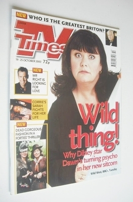 <!--2002-10-19-->TV Times magazine - Dawn French cover (19-25 October 2002)