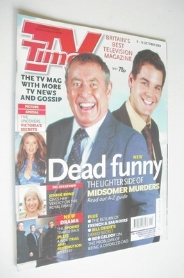 <!--2004-10-09-->TV Times magazine - Midsomer Murders cover (9-15 October 2