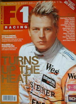 F1 Racing magazine - Kimi Raikkonen cover (February 2004)