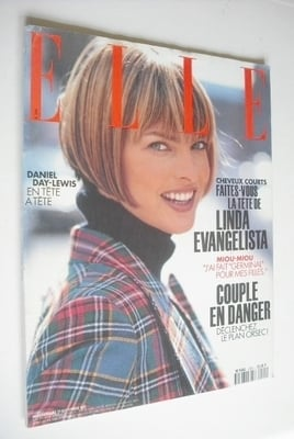 <!--1993-09-27-->French Elle magazine - 27 September 1993 - Linda Evangelis
