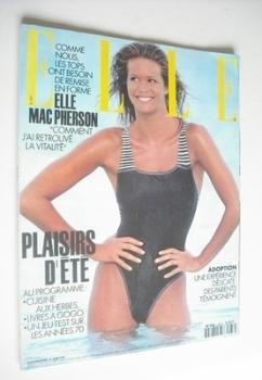 French Elle magazine - 21 June 1993 - Elle Macpherson cover