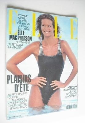 <!--1993-06-21-->French Elle magazine - 21 June 1993 - Elle Macpherson cove