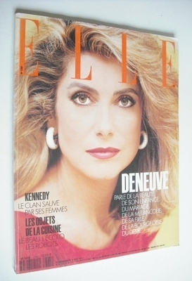 <!--1991-05-06-->French Elle magazine - 6 May 1991 - Catherine Deneuve cove