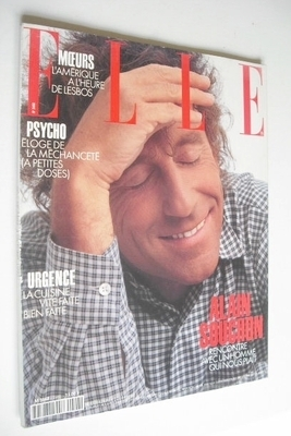 <!--1993-10-04-->French Elle magazine - 4 October 1993 - Alain Souchon cove
