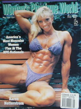 Women's Physique World magazine (May/June 1996) - Karen Netterstrom cover