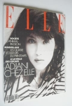 French Elle magazine - 26 March 1990 - Isabelle Adjani cover