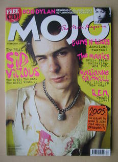 MOJO magazine - Sid Vicious cover (February 2005 - Issue 135)