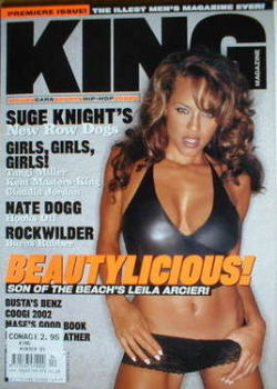 KING magazine - Leila Arcieri cover (Winter 2002 - 1st Issue - US edition)