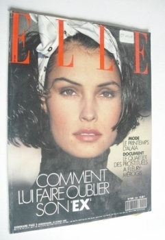 French Elle magazine - 20 February 1989 - Famke Janssen cover