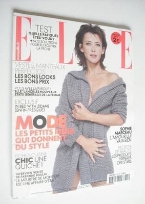 <!--2009-11-06-->French Elle magazine - 6 November 2009 - Sophie Marceau co
