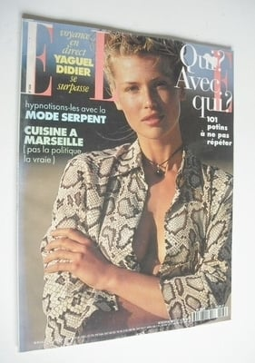 <!--1994-06-27-->French Elle magazine - 27 June 1994 - Daniela Pestova cove