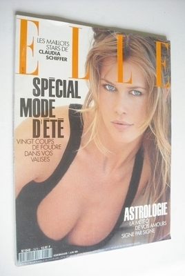 <!--1993-06-07-->French Elle magazine - 7 June 1993 - Claudia Schiffer cove