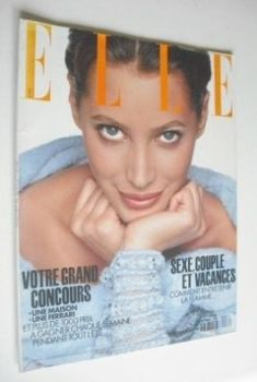 French Elle magazine - 28 June 1993 - Christy Turlington cover
