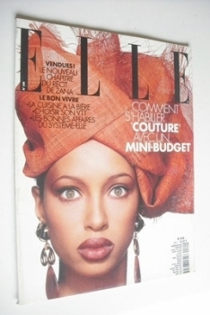 French Elle magazine - 1 March 1993 - Brandi Quinones cover