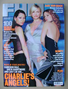 <!--2000-12-->FHM magazine - Lucy Liu, Cameron Diaz and Drew Barrymore cove