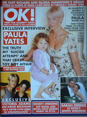 <!--1998-10-23-->OK! magazine - Paula Yates & Tiger Lily cover (23 October