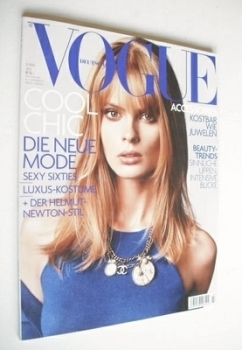 German Vogue magazine - July 2004 - Julia Stegner cover