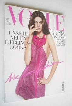 German Vogue magazine - January 2009 - Isabeli Fontana cover