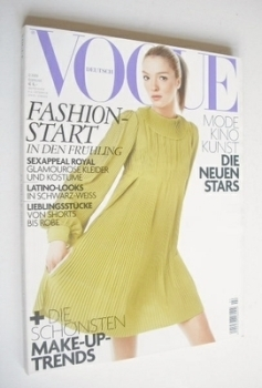German Vogue magazine - February 2006 - Mariacarla Boscono cover