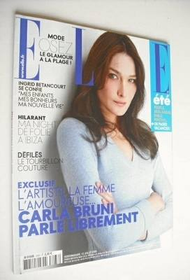 <!--2008-07-12-->French Elle magazine - 12 July 2008 - Carla Bruni cover