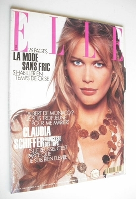 <!--1992-10-26-->French Elle magazine - 26 October 1992 - Claudia Schiffer