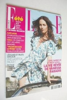 French Elle magazine - 9 August 2008 - Vanessa Paradis cover
