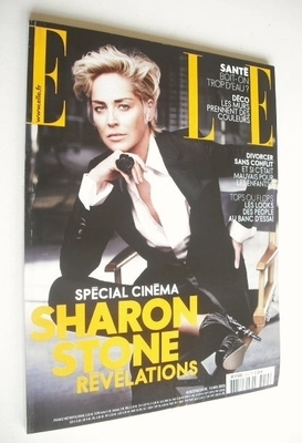 <!--2008-05-19-->French Elle magazine - 19 May 2008 - Sharon Stone cover