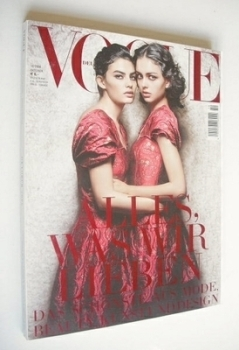German Vogue magazine - October 2006 - Alyssa Miller and Darla Baker cover